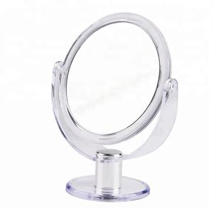 Plastic small cosmetic table mirror standing cosmetic mirror