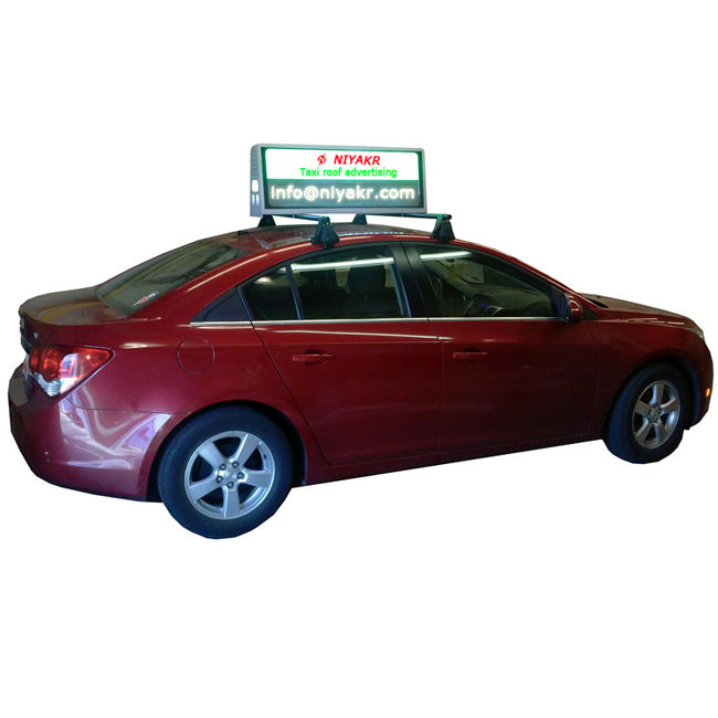 taxi led topper sign/roof mounting rotate lcd cab car taxi advertising screen100% response rate