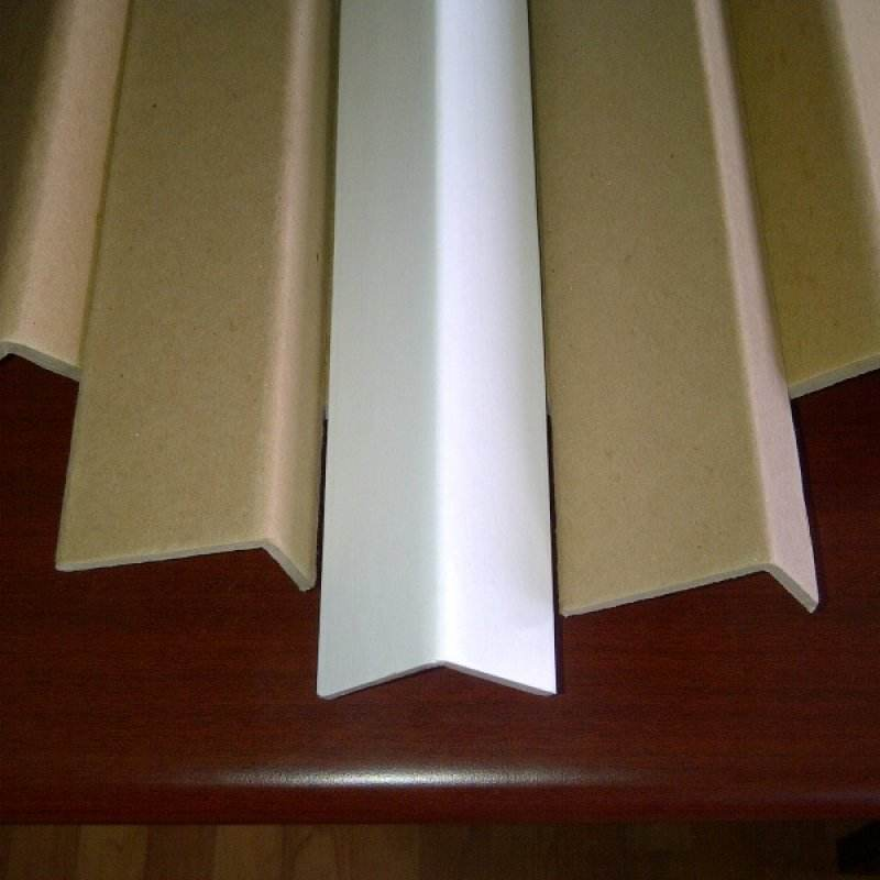 Recycled eco friendly L shape brown and white cardboard corner edge board sheet paper protector