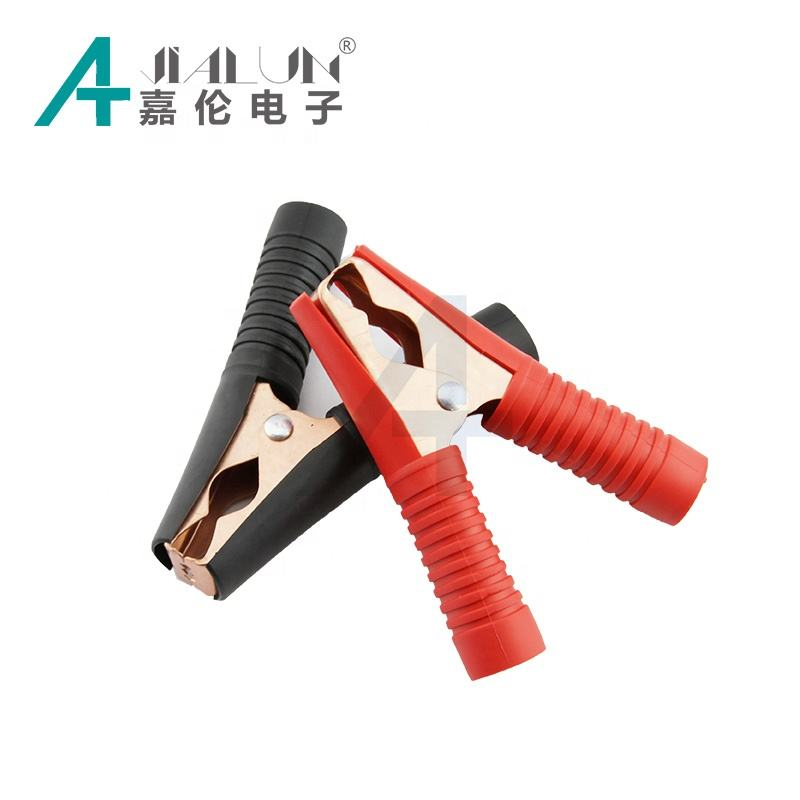 JIALUN PVC Insulators Installed 100Amp Copper plated Alligator Crocodile Clips