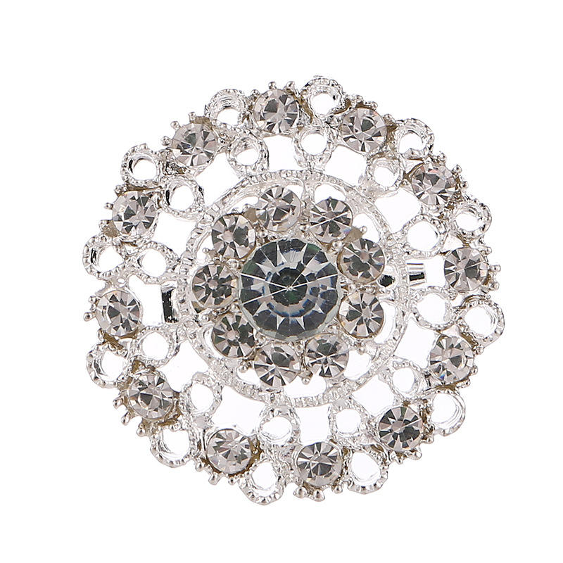 High grade clear crystal brooches The bouquet silver brooch clothes pins Spot provide bouquet-in Brooches pin