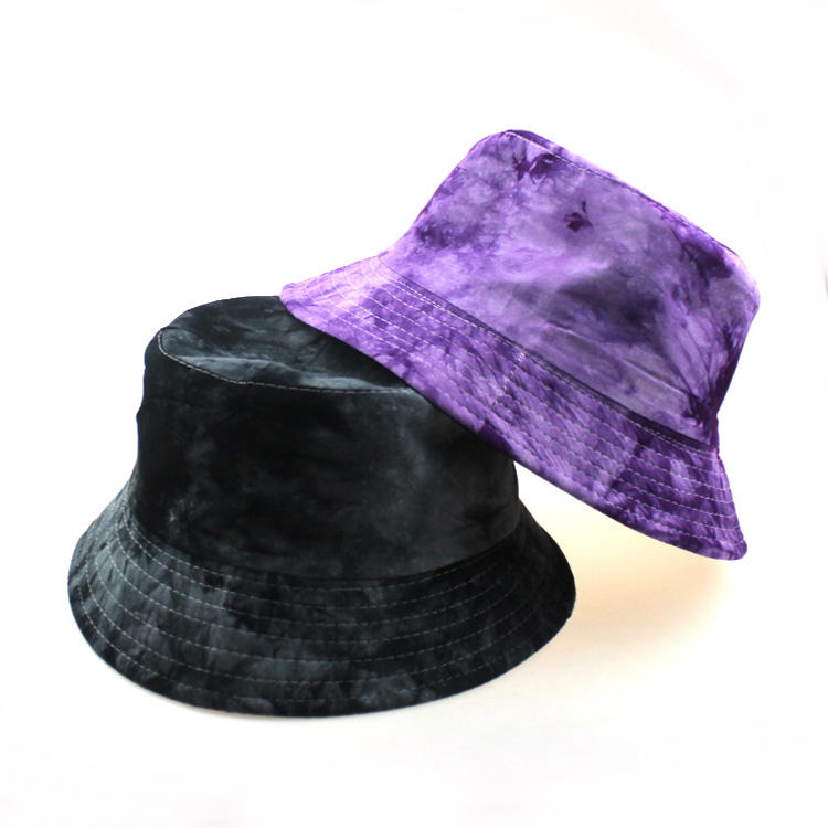 European and American popular beach tie-dye gradient small along the fisherman hat beach fashion flat top basin hat