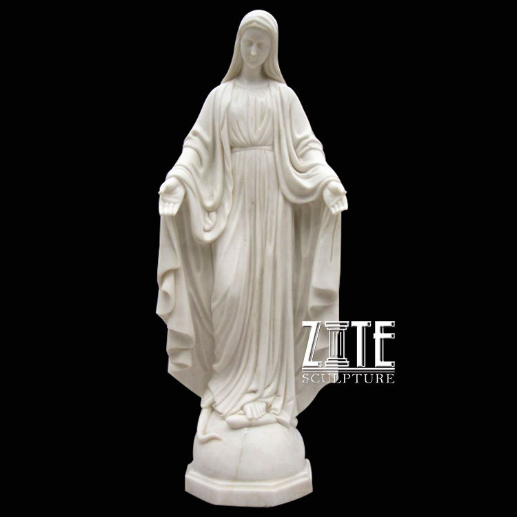 Natural Solid stone outdoor marble mother mary statue