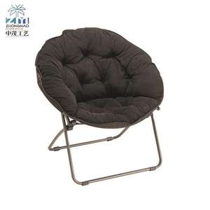 Fishing foldable moon chair velvet luxury outdoor folding chair moon shape
