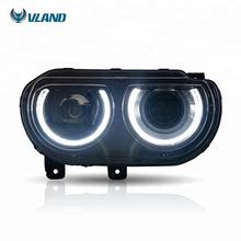 VLAND sequential manufacturer led headlights 2008-2014 SRT R/T modified headlight For dodge challenger