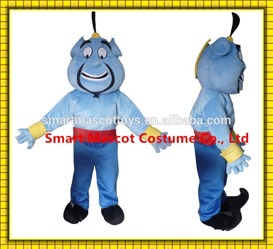 fait à la main bon genie visuellesimple aladdin aladdin genie costume costume de mascotte adulte pour la vente