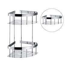 Corner bathroom rack double - layer bath shelf 304 stainless steel wall-mountd sanitary rack