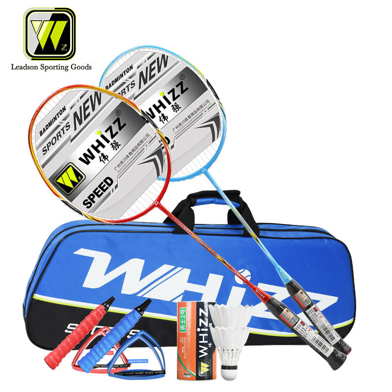 WHIZZ 4U lightweight Custom Full Carbon Fiber Badminton Racket Set-Y5Y6