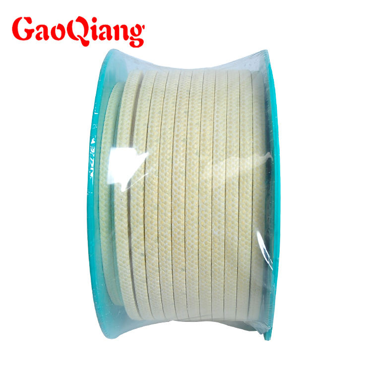 Kevlar yarn impregnated PTFE aramid packing with lubricant