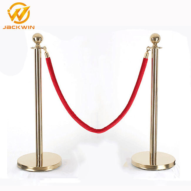 Runde Ball Top Crowd Control Post Stanchion Twisted Barriere Seile Warteschlange Linie