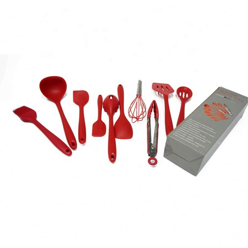 Food grade silicone kitchen utensils heat resistant cooking utensil set