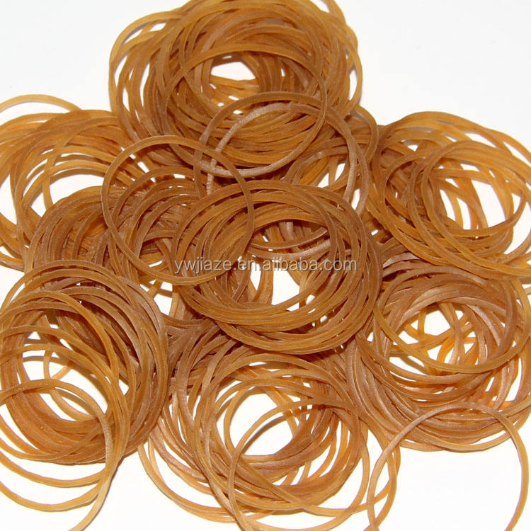Wholesale Price 100% natural Brown color Elastic Rubber Band