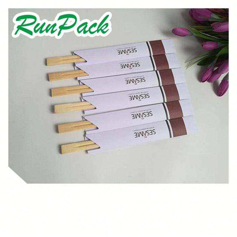 Custom Design Factory Wholesale Logo Printed Paper Chopstick Sleeve