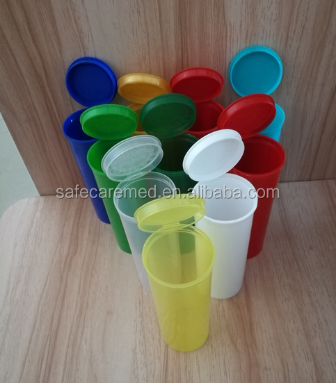 Many colors Pop Top Vials Hinged Medical Plastic Snap Cap Pill Bottles /small plastic container/jar