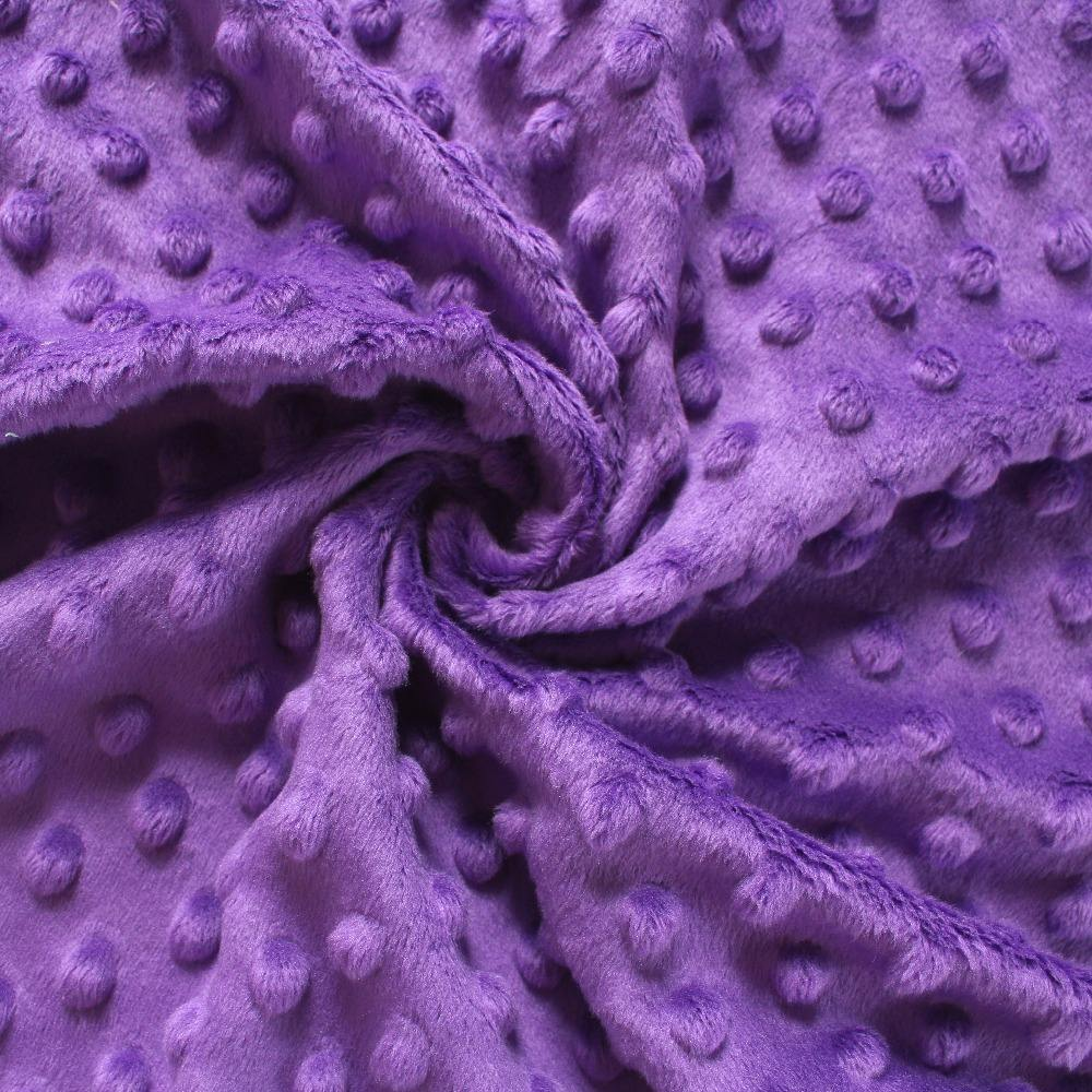 Top Quality 100% Polyester Minky Dot Short Plush Fabric