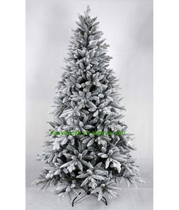 High class PE PVC Mixed Flocked Christmas Tree Snowy Xmas trees