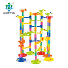 138PCS Table Game For Kids Eco-friendly ABS Rolling Ball Bricks Maze Marble Run Toys