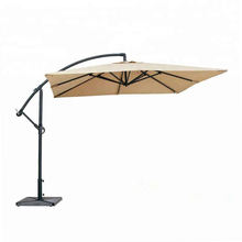 2.5m outdoor rain sun square umbrella hanging parasol