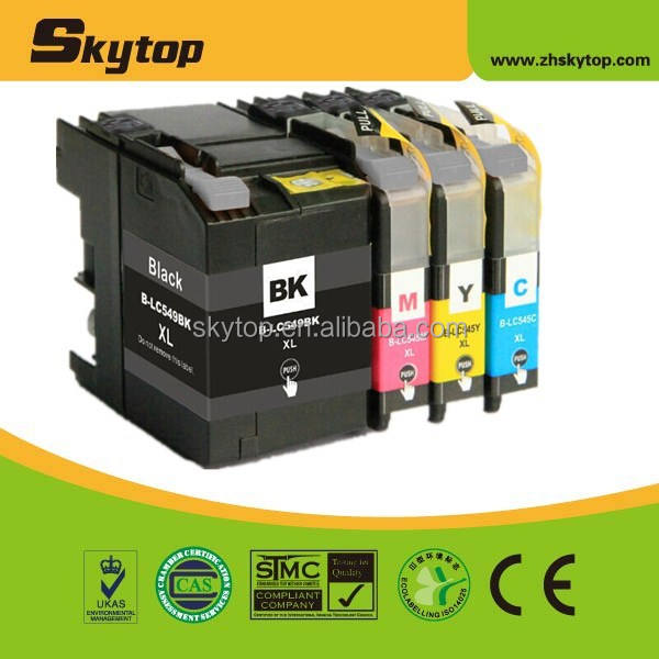 compatible Brother new ink cartridge LC549XLBK,545XL C/M/Y for inkjet MFP DCP-J100/105/MFC-J200