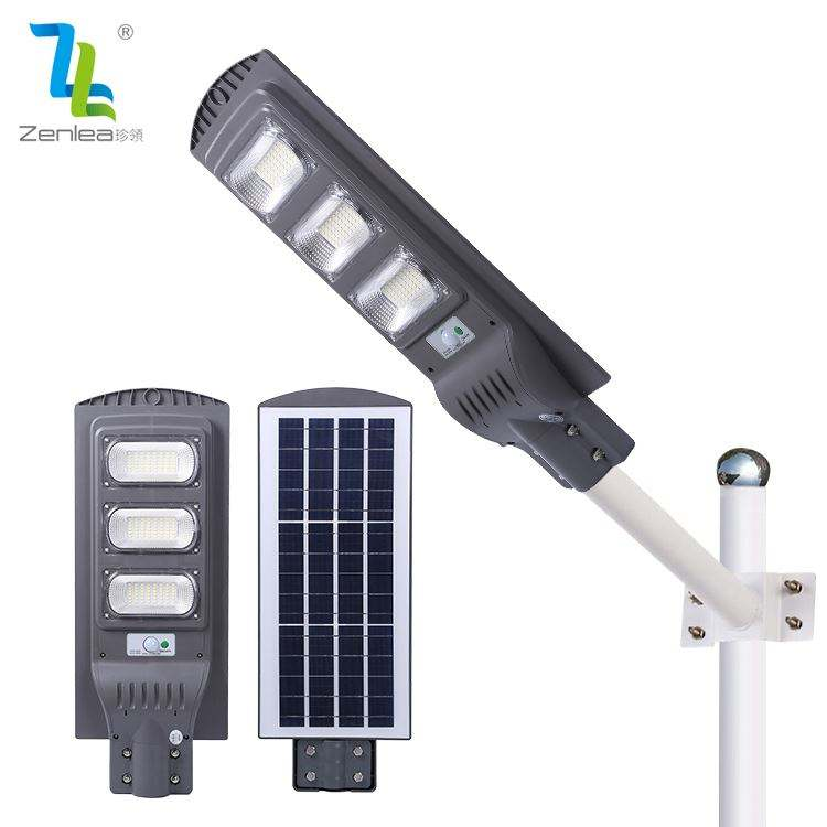 New Product Garden Lighting 30w 60w 90w 120w Ip65 Waterproof All In One Integrated Solar Led Streetlight