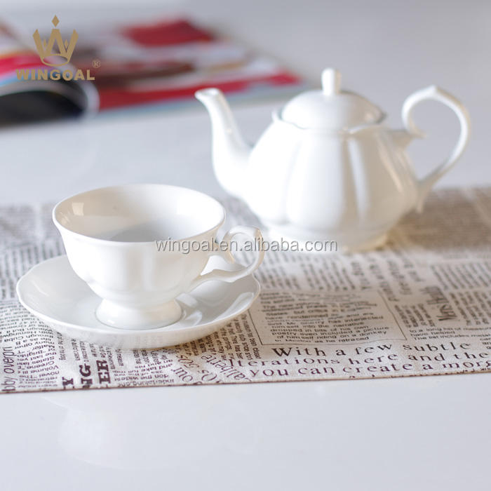 500ml White porcelain tea set