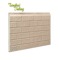 Dalian Tenghui Exterior Decorative 3D Wall Panel Metal PU Sandwich Panel