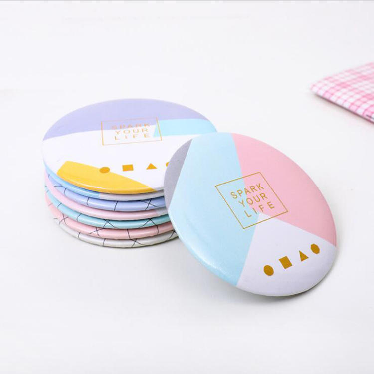 Mini Round Shape Cheap Small Compact Makeup Pocket Mirror for Promotional