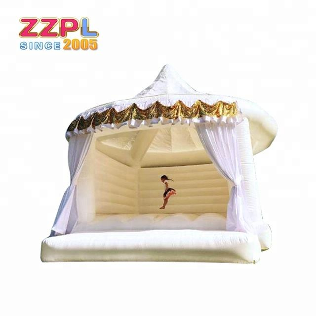 2019 Hot sale white bounce house white bouncy castle for wedding