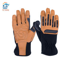Personalized Glass Handling Work Anti Vibration TPR Mechanical Gloves