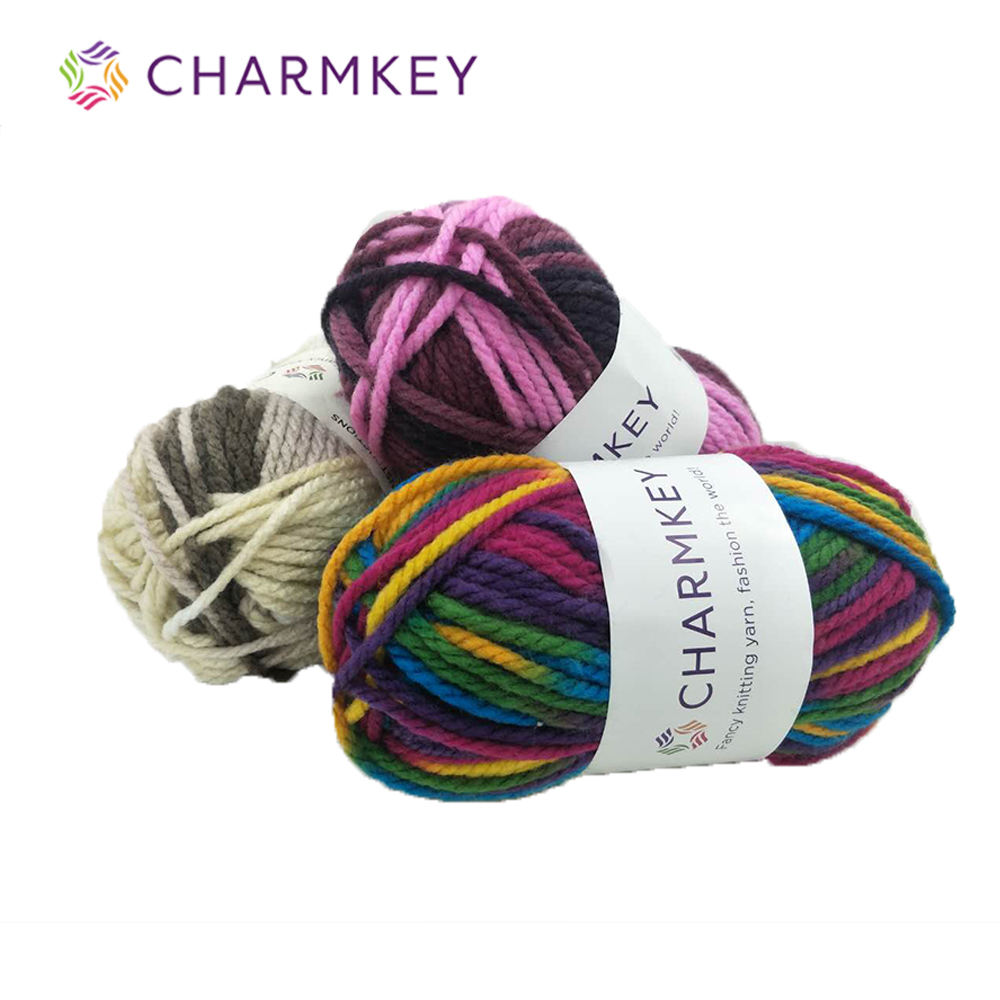 Charmkey hot sale chunky ptt blended acrylic yarn for knitting sweater or scarf diy toy