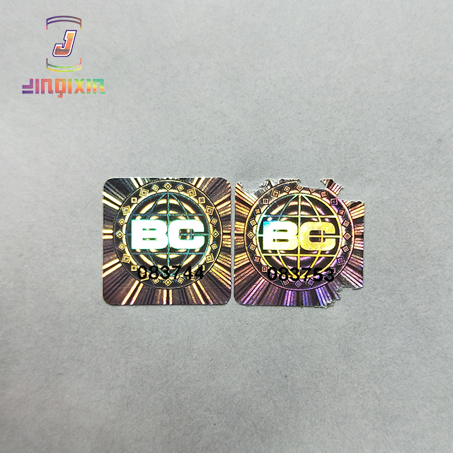 Hot sale security code label/ destructible label stickers/eggshell stickers