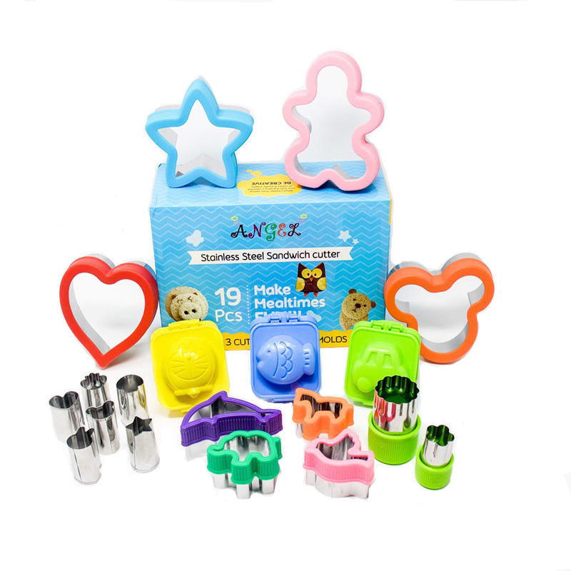 2020 Cookie Cutters For Kids, Stainless Steel Sandwich Cutters for Boys and Girls sandwich cutters for kids
