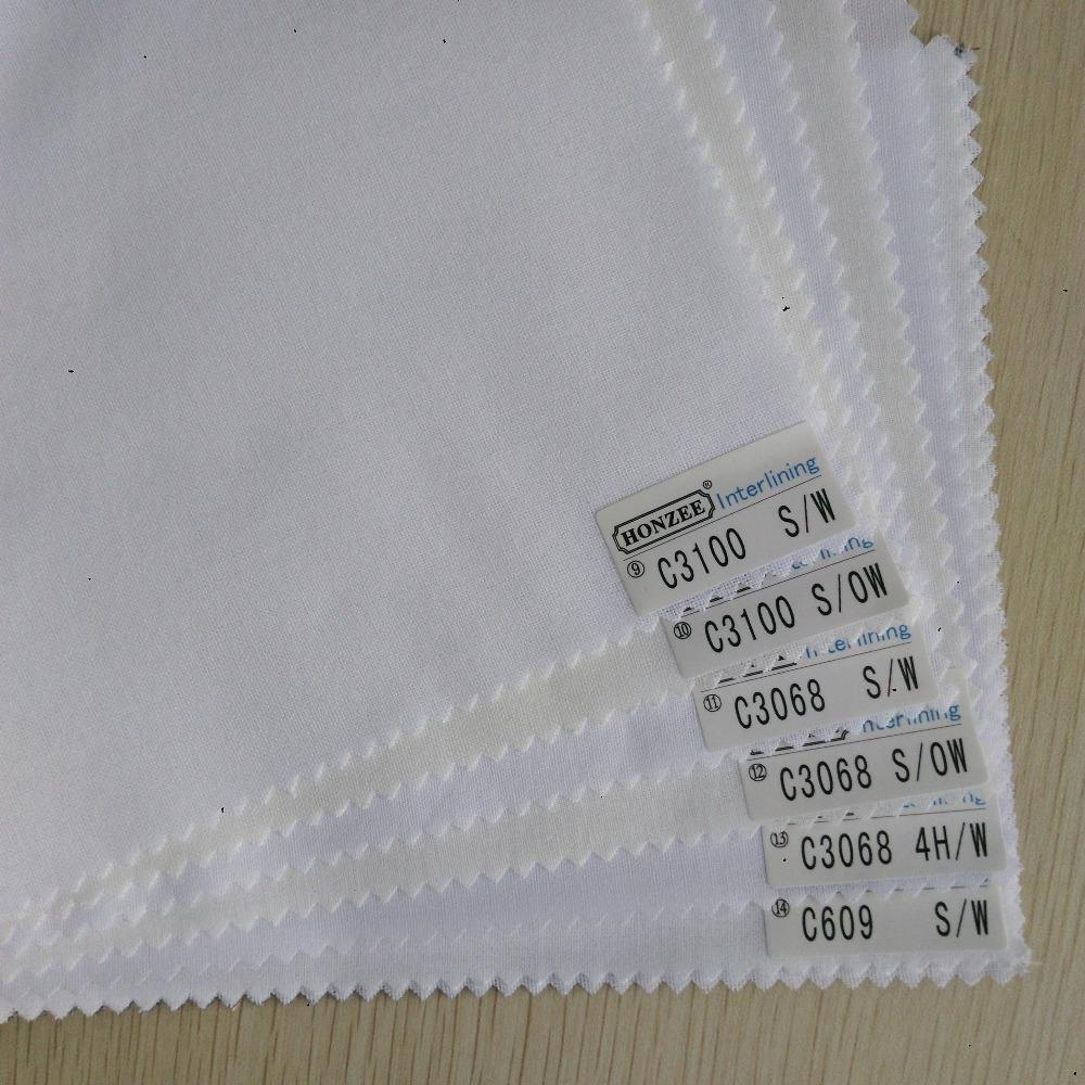 Factory Supply Woven Fusible Shirt Interlining
