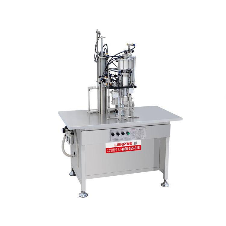 Food [ Gas Filling Machine ] Nitrogen Gas Filled Aerosol Spray Filling Machine For Perfume Body Spray