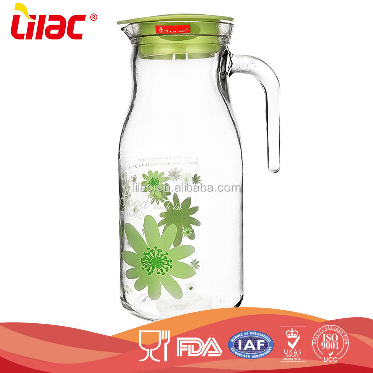 wholesale cheap Large tall glass borosilicate heat resistant glass large water jugs