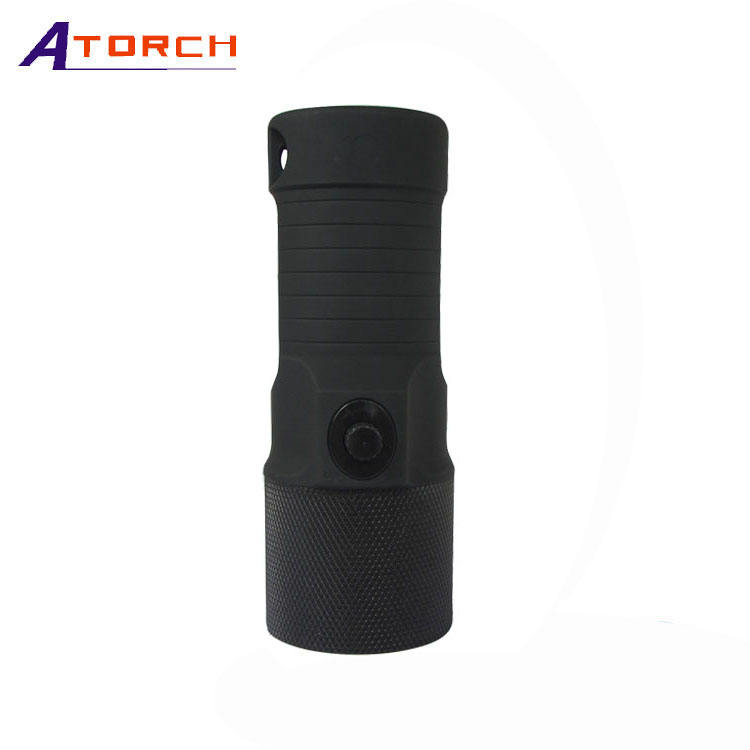1200 Lumen 100m Waterproof Diving Light Tactical LED Flashlight Underwater Push Button Tool Torche