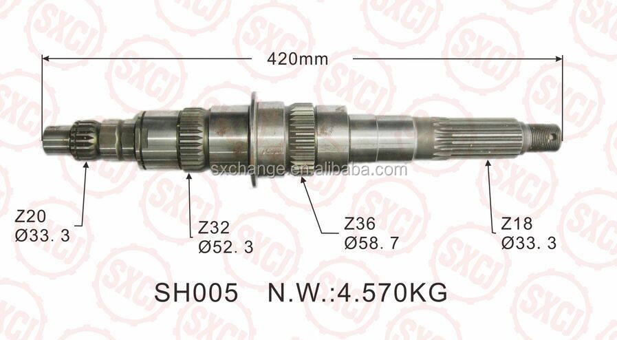 MITSUBISHI Transmission Gear ME-605844 FOR FUSO --MAIN SHAFT 20T/32T/36T/18T