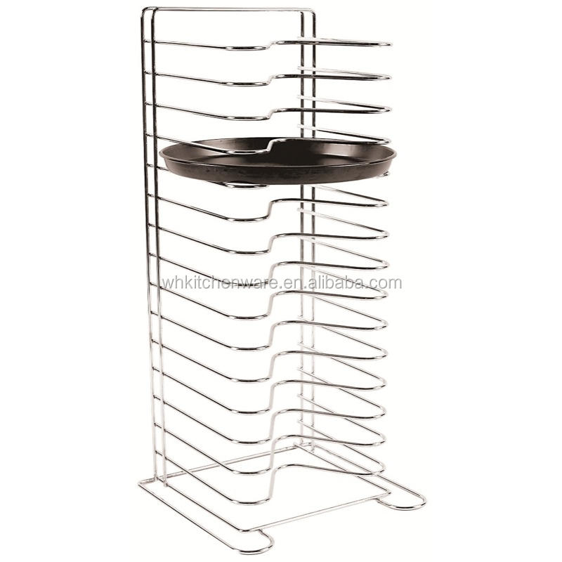 11 and 14 shelf wire pizza pan rack for kitchen