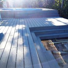 Wood plastic outdoor floor tiles