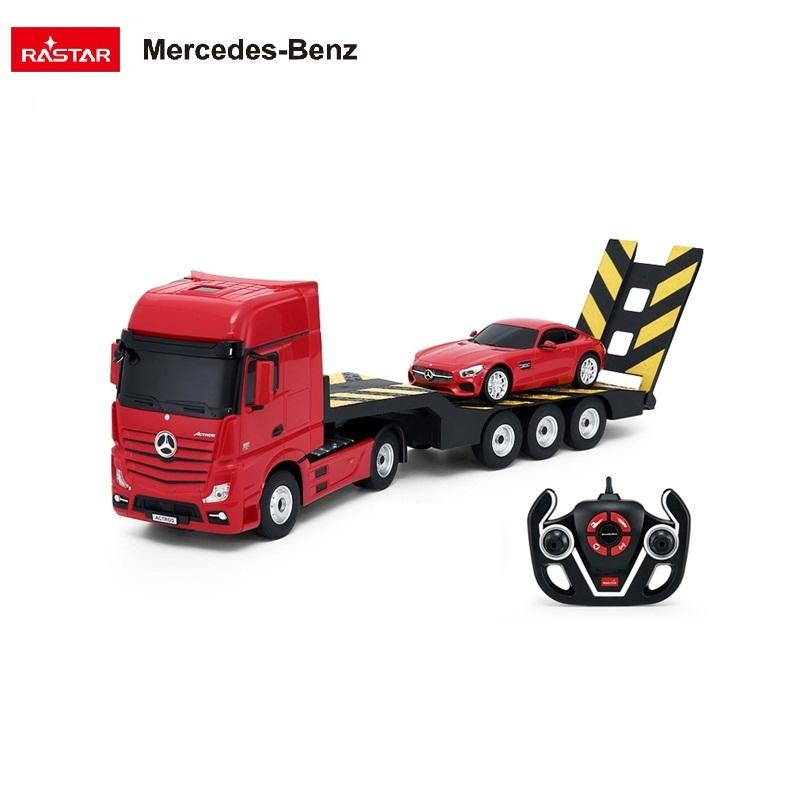 RASTAR licensed electric toy kids rc 1:26 kit mercedes benz actros car