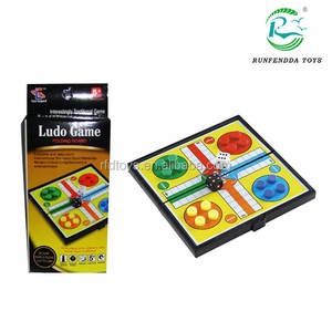 Folding intellect ludo chess game magnetic ludo board game