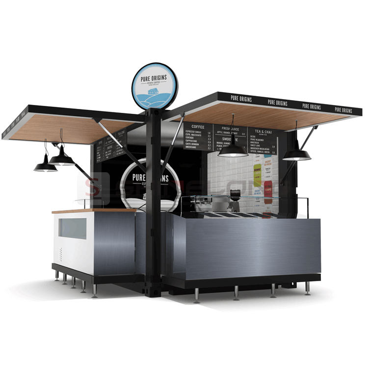 Small Coffee Shop Fast Food Truck Trailer Fast Food Kiosk For Sale