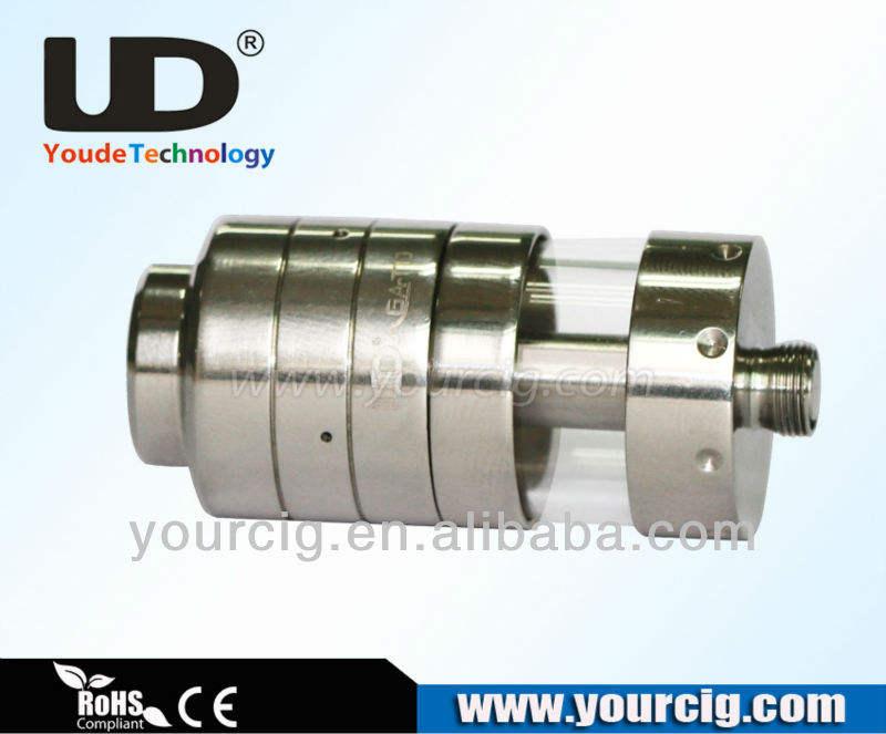 Pure matériau ss UD AGA-TD youde technologie e-cig reconstructible atomiseur. 1.8ml pyrex avec réservoir