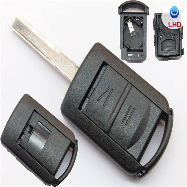 2 Buttons Replacement Car Key Shell Blank Cover with blade For Opel Astra H J g Corsa Insignia Zafira Vectra Mokka