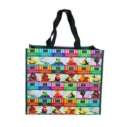 Laminated Shopping Tote Custom Logo Print PP Promotional Woven Bag