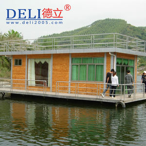 Prefabricated floating house for lakes and waterways