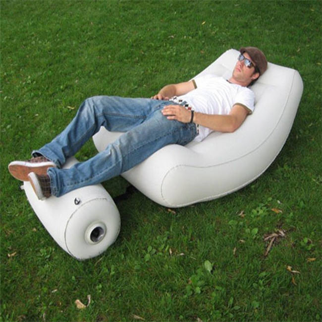 bedroom furniture inflatable flocked sofa, inflatable lazy boy sofa chair for sale