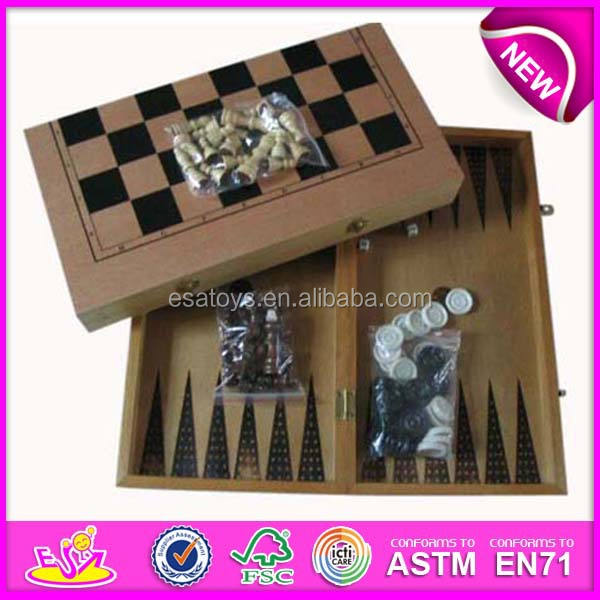 2015 Hot sale wooden educational toy backgammon,wooden backgammon and chess backgammon,non-toxic eco-friendly WJ277118