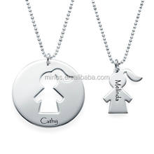 Unique Gift for Mom - Mother Daughter Necklace Set custom stainless steel jewelry