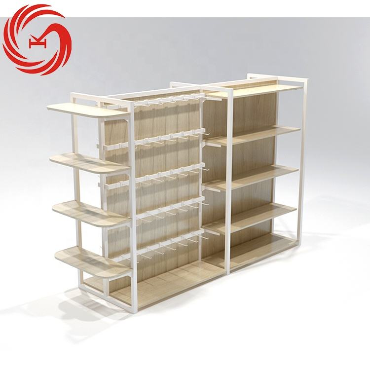 Gift shop moeder en kind producten store display case vintage metalen display rack anti-gebroken houten showcase display rack